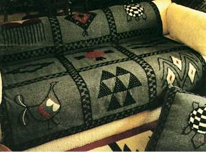Native Design original utility blanket embroidery